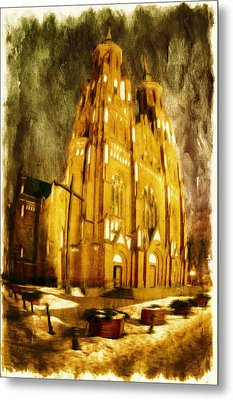 Gothic Cathedral Metal Print