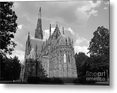 Gothic Church In Black And White Metal Print by John Telfer