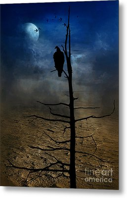 Gothic Landscape  Metal Print by Andrea Kollo