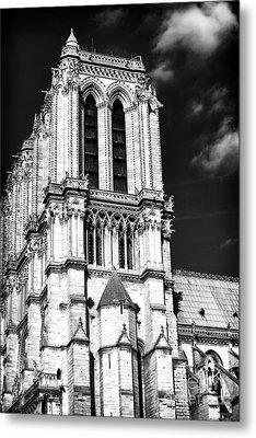 Gothic Notre Dame Metal Print by John Rizzuto