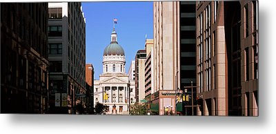 Government Building In A City, Indiana Metal Print