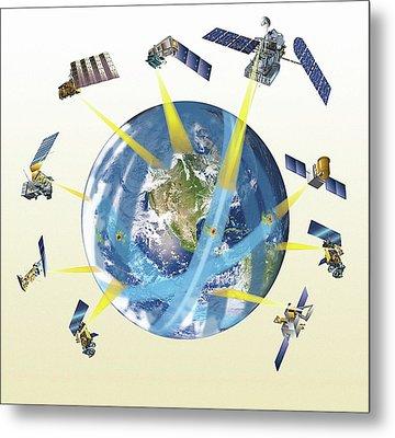Gpm Satellite Constellation Metal Print
