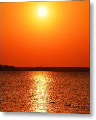 Grab Your Cup Of Coffee And Enjoy The Sunrise Metal Print by Dacia Doroff