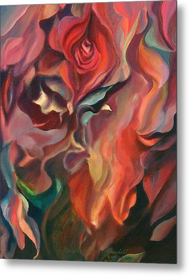 Metal Print featuring the painting Grace And Desire - Floral Abstract by Brooks Garten Hauschild