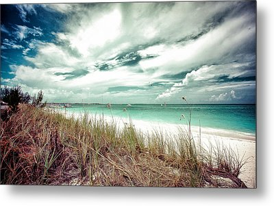 Grace Bay Metal Print by Maria Robinson