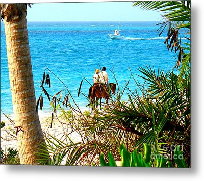 Grace Bay Riding Metal Print by Patti Whitten
