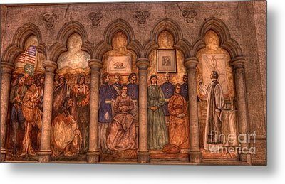 Grace Cathedral Mural Metal Print by David Bearden