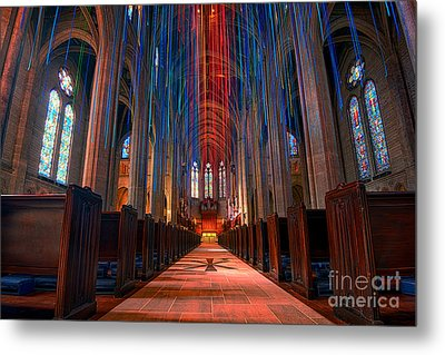 Grace Cathedral San Francisco Metal Print by Peter Dang