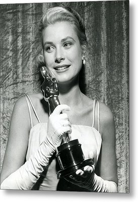 Grace Kelly At Awards Show Metal Print by Retro Images Archive