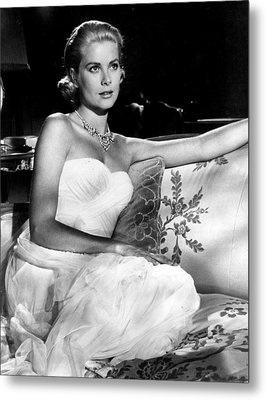 Grace Kelly Looking Gorgeous Metal Print
