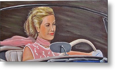 Grace Kelly - To Catch A Thief Metal Print by Kevin Hughes