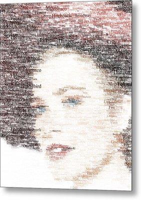 Grace Kelly Typo Metal Print