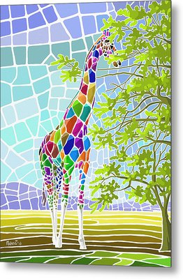 Metal Print featuring the painting Graceful by Anthony Mwangi