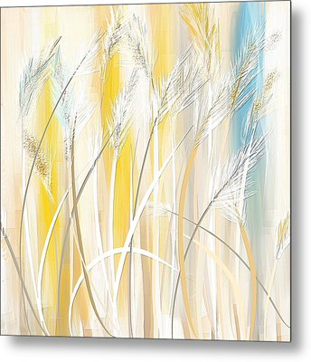 Graceful Grasses Metal Print by Lourry Legarde
