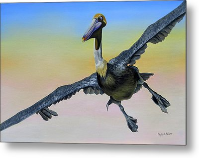 Graceful Landing Metal Print by Phyllis Beiser