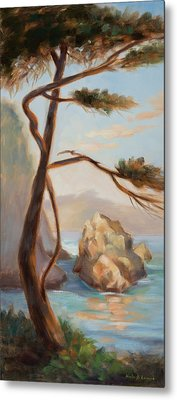 Graceful Pine In Afternoon Light At Point Lobos Metal Print