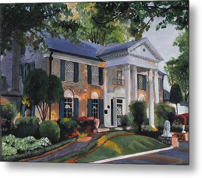 Graceland Home Of Elvis Metal Print by Cecilia Brendel