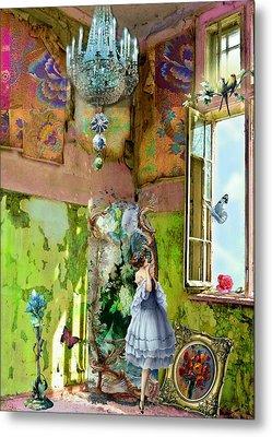 Grace's Window Metal Print by Laura Botsford
