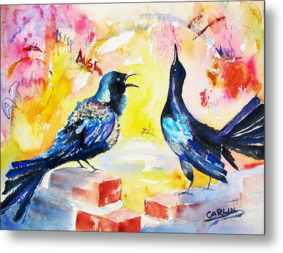 Grackles And Graffiti  Metal Print