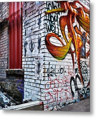 Graffiti Alley Metal Print by Greg Jackson