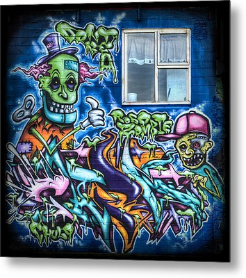 Graffiti City Metal Print by Evelina Kremsdorf