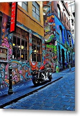 Graffiti Harley Shoes - Melbourne - Australia Metal Print