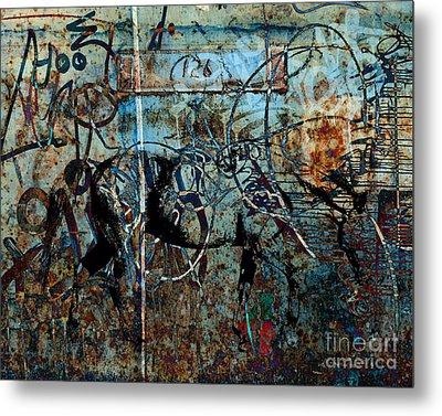 Graffiti Horse Blues Metal Print by Judy Wood
