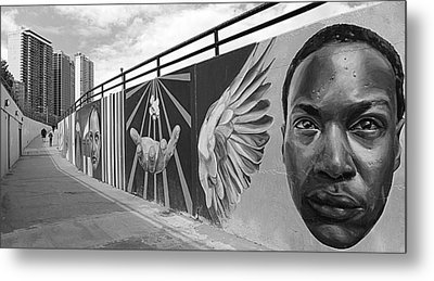 Graffiti In The Windy City Metal Print by Christine Till