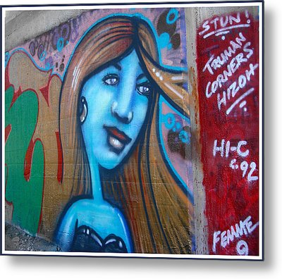 Graffiti Kansas City 6 Metal Print by Ellen Tully
