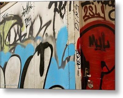 Metal Print featuring the photograph Graffiti Writing Nyc #2 by Ann Murphy