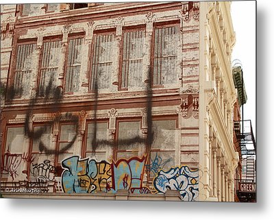 Metal Print featuring the photograph Graffiti Writing Nyc by Ann Murphy