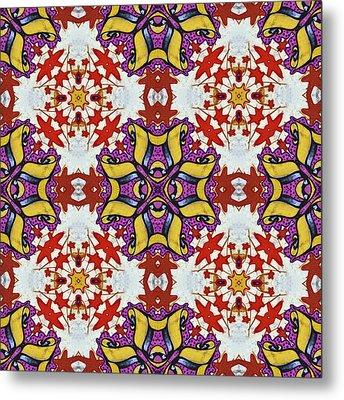 Graffito Kaleidoscope 40 Metal Print