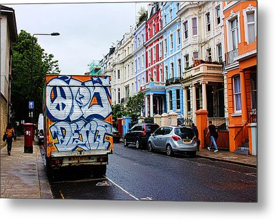 Grafitti Truck Metal Print by Nicky Jameson