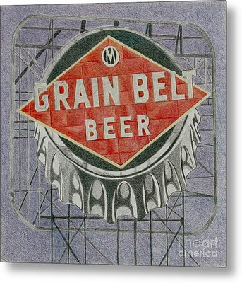 Grain Belt Beer Metal Print