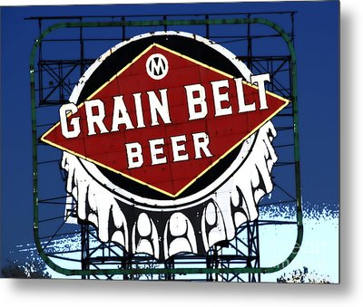 Grain Belt Blue Metal Print