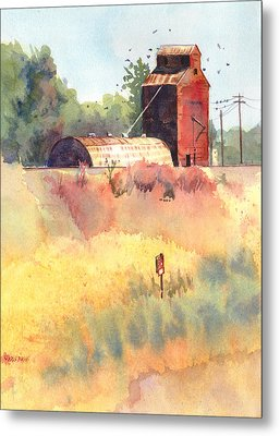Grain Elevator Metal Print by Kris Parins