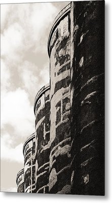Grain Silos Metal Print by Arkady Kunysz