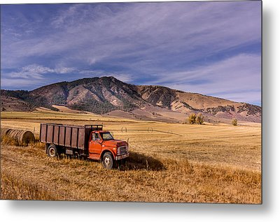 Metal Print featuring the photograph Grain Truck by Jeremy Farnsworth