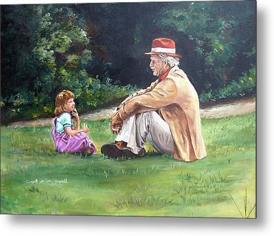 Grampa's Bible Stories Metal Print by Carole Powell