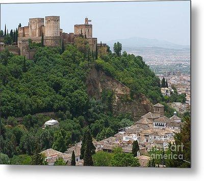 Granada - Alhambra Towers Metal Print by Phil Banks