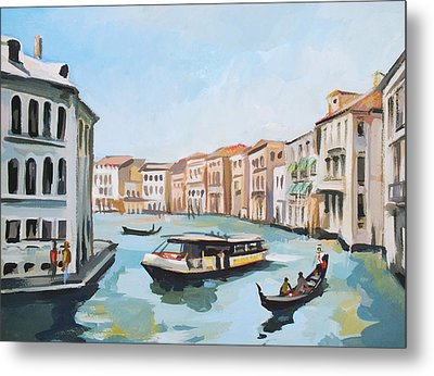 Grand Canal 2 Metal Print by Filip Mihail
