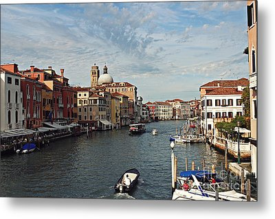 Grand Canal In Venice Metal Print by Cendrine Marrouat