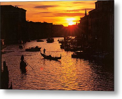 Grand Canal In Venice Metal Print by Yue Wang