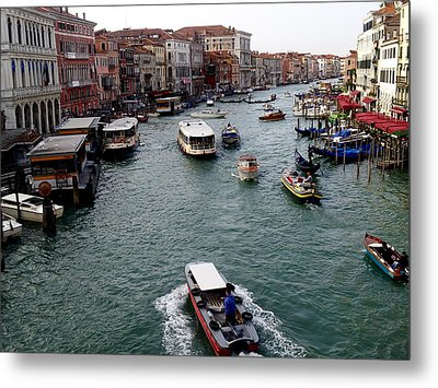 Grand Canal's Morning Rush Metal Print by Amelia Racca