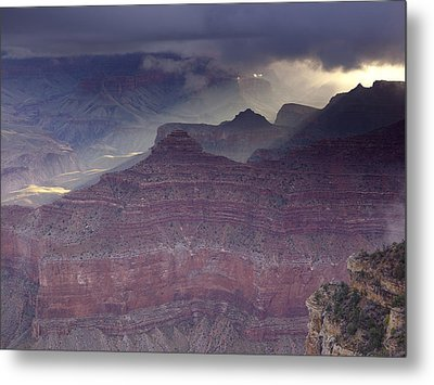 Grand Canyon - Clearing Storm Metal Print