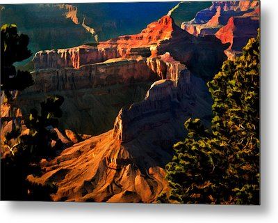 Grand Canyon At Sunset Metal Print