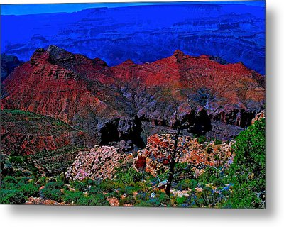 Grand Canyon Beauty Exposed Metal Print