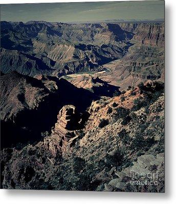 Grand Canyon Eastern Sunset View Square Lomo Metal Print