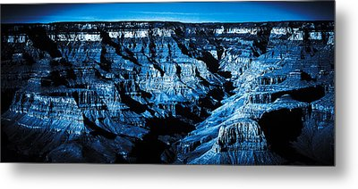 Grand Canyon In Blue Metal Print by Bartz Johnson
