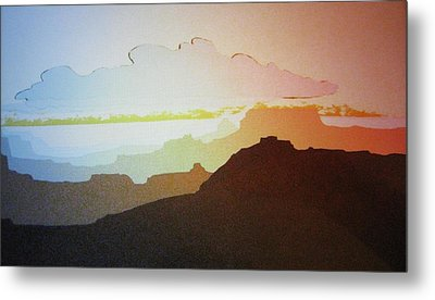 Metal Print featuring the painting Grand Canyon by John  Svenson